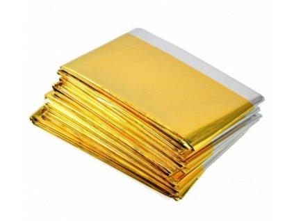 Izotermická fólie zlato/stříbrná 210x160cm