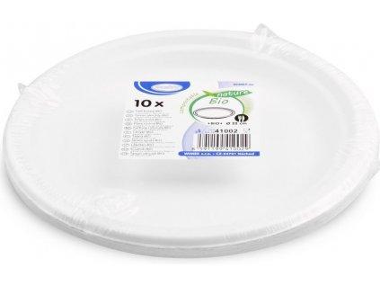 Bio talíř z cukrové třtiny 22cm 10ks
