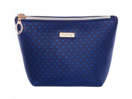Kosmetická taška Blue Tringles hranatá