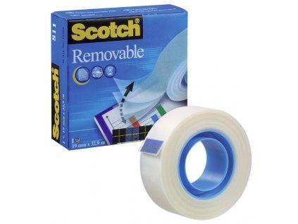 Lepicí páska 3M Scotch Magic 811 Removable 19mm/33