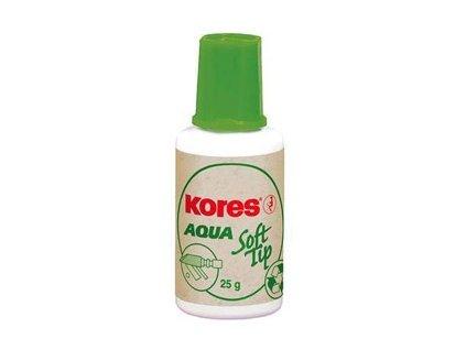 Opravný lak Kores Aqua Soft Tip 25ml s houbičkou