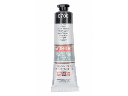 Akrylová barva Koh-i-Noor 40ml černá
