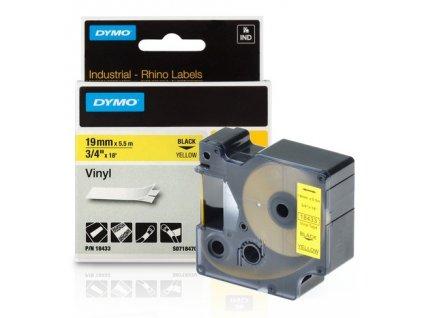 DYMO páska D1 RHINO 19mm/5,5m černo/žlutá
