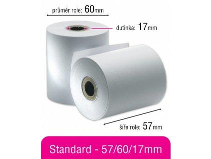 Kotouček standard 57/60/17mm