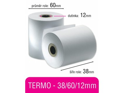 Pokladní kotouček TERMO 38/60/12mm