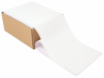 """Tabelační papír 24 1+1 12"""" s perforací 1000 složek"""