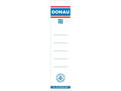 Štítky do pořadače Donau 50mm 28x153mm