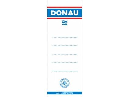 Štítky do pořadače Donau 80mm 48x153mm