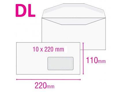 Obálka DL obyčejná s okénkem
