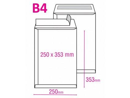 Poštovní taška B4 s krycí páskou