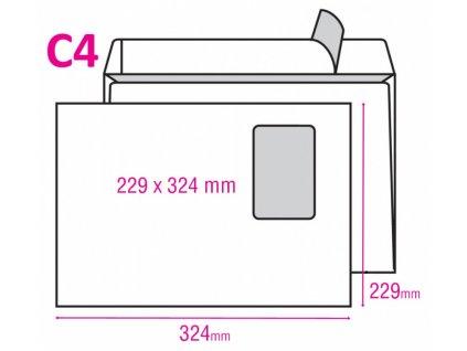 Obálka ELCO C4 samolepicí okénko vlevo 250ks