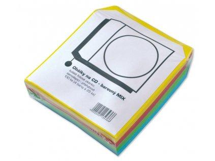 Papírová obálka na CD/DVD barevná 100ks