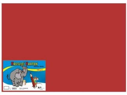 Barevný kreslící karton A1 180g červený 10ks