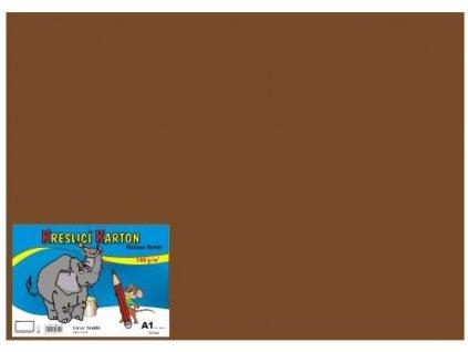 Barevný kreslící karton A1 180g hnědý 10ks