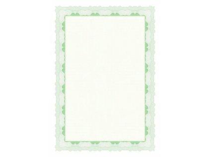 Certifikační papír 95g zelený