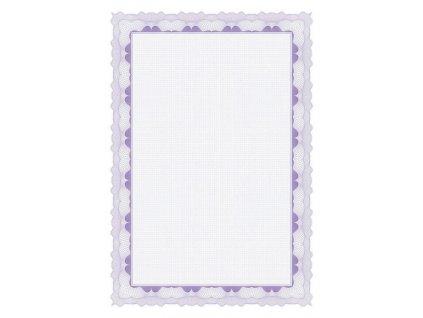 Certifikační papír 95g fialový