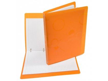 Karisblok NEO COLORI A4 100 listů linkovaný oranžo