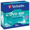 DVD-RW Verbatim 4,7GB/4x 5-pack krabička