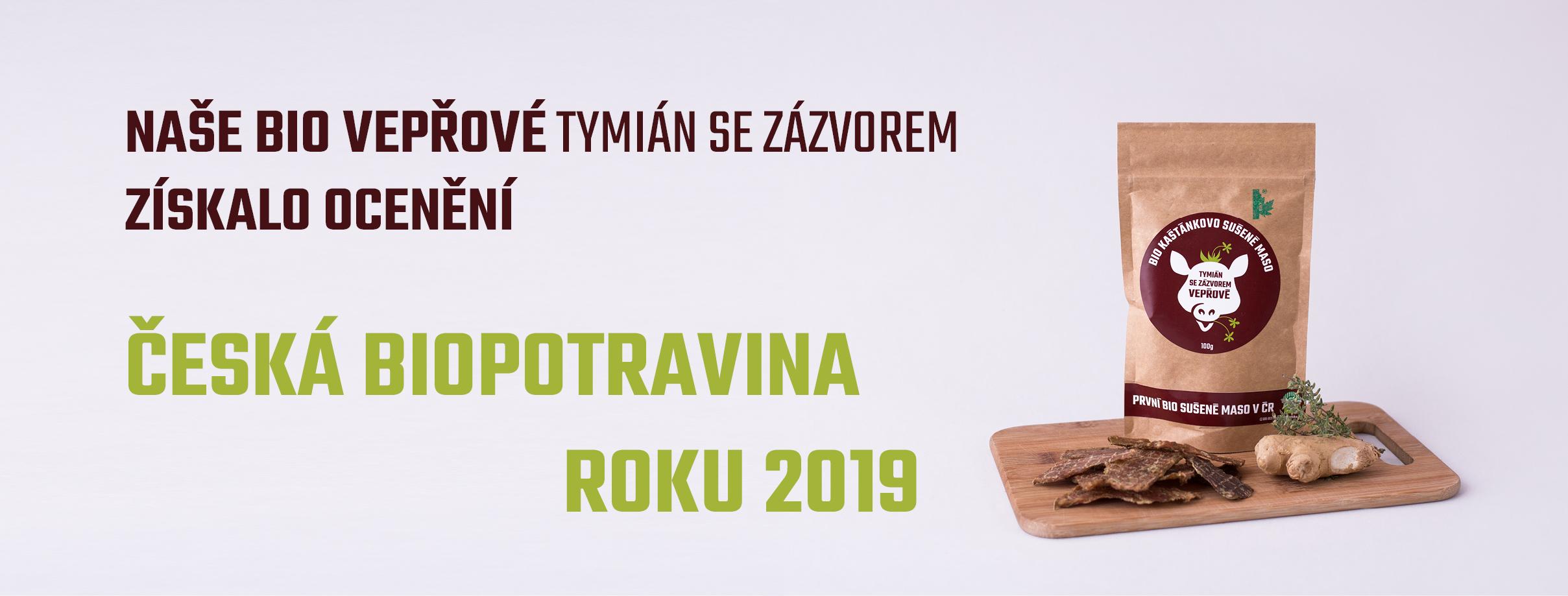 ČESKÁ BIOPOTRAVINA ROKU 2019