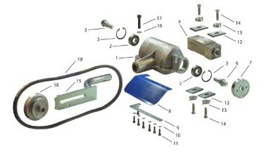 Náhradní díly odkorňovače na motorovou pilu