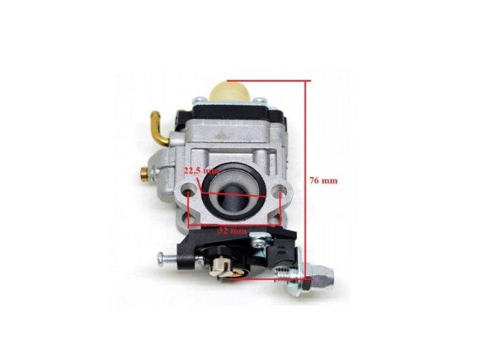 Karburátor pro Hecht 143, Hecht 924 (nahrazuje 127001017) , CG43, CG260, CG430/BC/43, AL-KO BC 4535 BC 4125 BC410 TYP 3, Nac,Stiga,Texas-10 mm