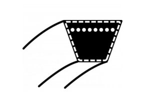 Klinový řemen MTD Mastercut 76, Spider 76, LA 125, BL 125/76- Wisconsin Prime W1639,1618, 1633, 1635, 1638 (17 x 1450 Li) (12434 / 012434)