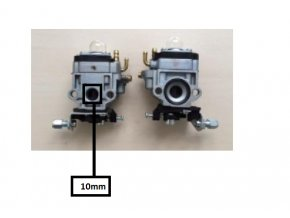 Karburátor pro Hecht 132, 143, Hecht 924 (nahrazuje 127001017) , CG260, AL-KO BC4535, BC4125, BC410 TYP 3, Nac,Stiga,Texas-10 mm