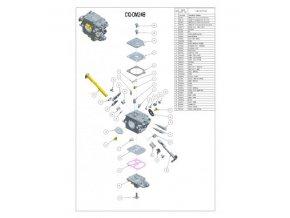 Karburátor ZAMA pro Dolmar PS350, PS420 (s nastavitelnou tryskou H) (C1Q-DM24B)