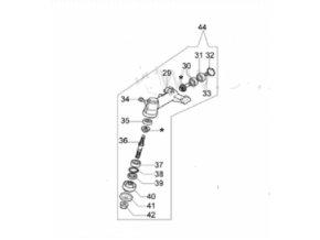 Převodovka-uhlový převod Oleo mac BC 280-24mm