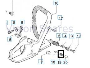 Pružina Oleo-Mac 947, 952 GS371, GS411 originál 094500575R