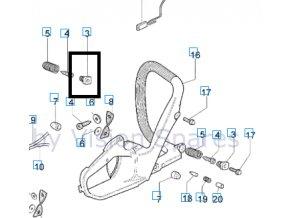 Nosník, podstavec Oleo-Mac 947, 952 originál 50070049R