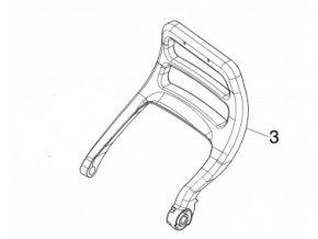 Páka brzdy Oleo-Mac GS650 originál 50250053AR
