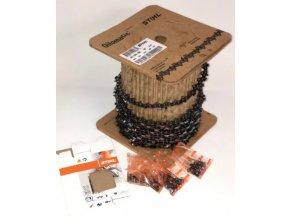 """Pilový řetěz Stihl Picco Micro 3 (PM3)  3/8"""" .053"""" (1,3 mm) role 100 stop, kulatý zub. Katalogové číslo: 36360001640"""