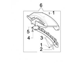 Ochranný krýt- krýt sečení originál BC400S, T originál 61380129