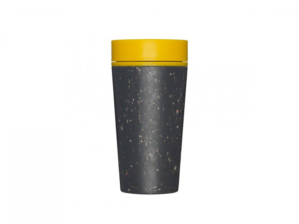rCUP kelímek Black and Mustard 340 ml