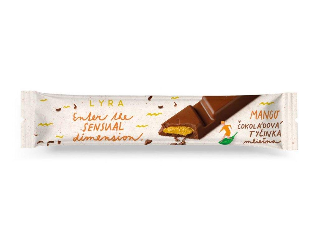 Tyčinka LYRA - mango/mléčná čokoláda
