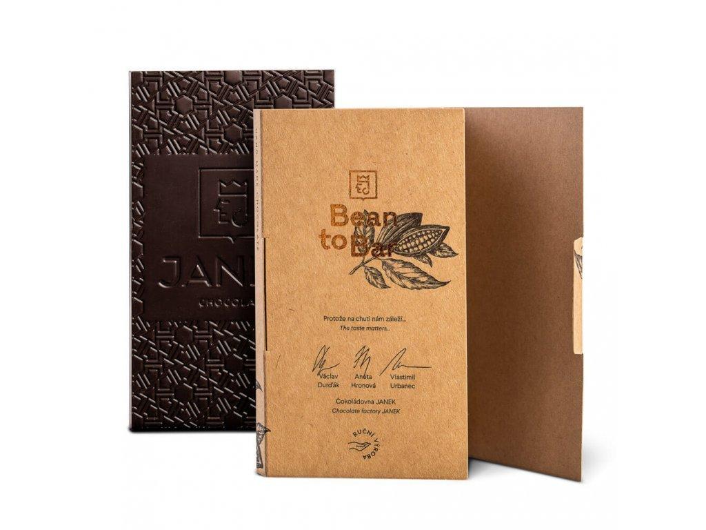 50% Bean to bar mléčná čokoláda, Madagaskar, Čokoládovna Janek - 45g