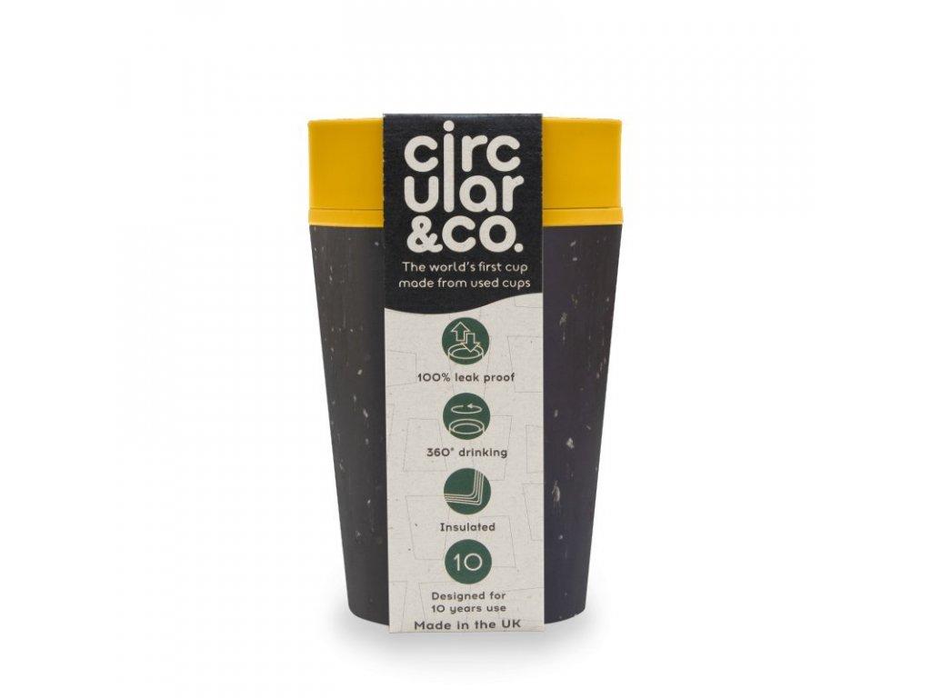 Circular Cup (rCUP) opakovaně použitelný kelímek černá/hořčicově žlutá