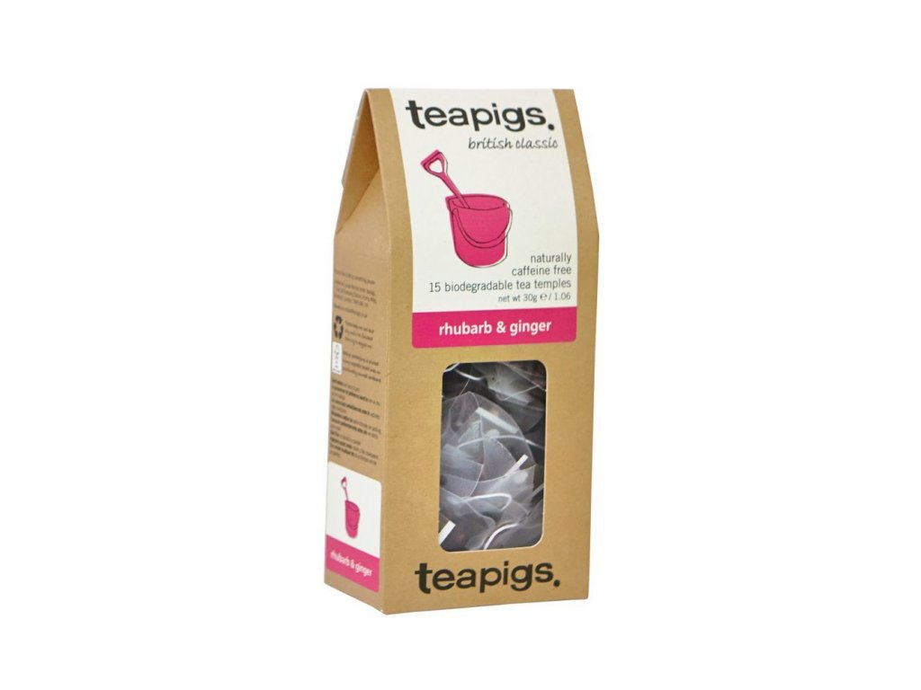Čaj teapigs Rebarbora a zázvor - 15 ks