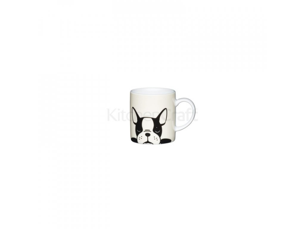 Šálek na espresso Kitchen Craft Porcelain - French Bulldog
