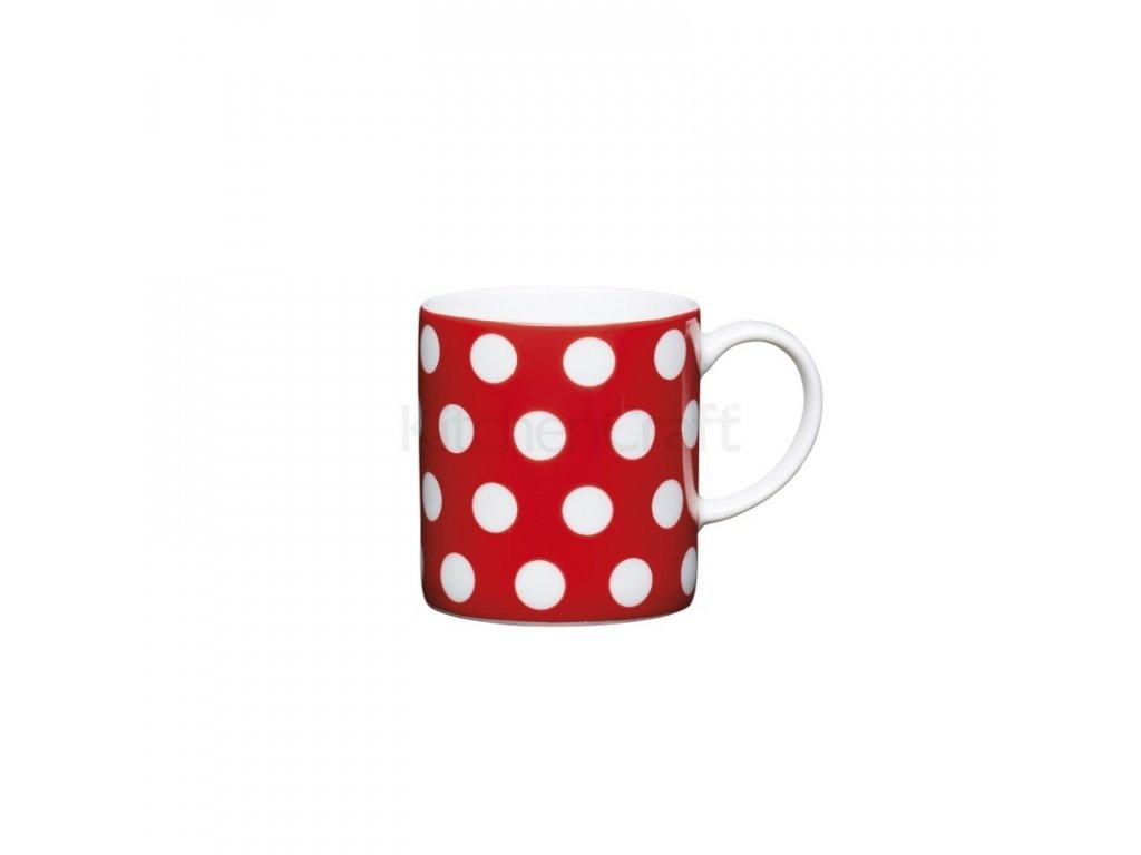 Šálek na espresso Kitchen Craft Porcelain - Red Polka Dot
