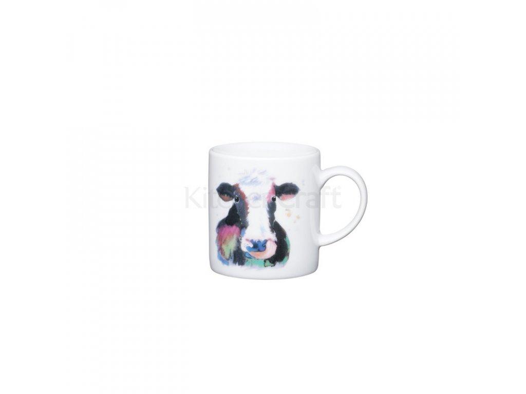 Šálek na espresso Kitchen Craft Porcelain - Watercolour cow