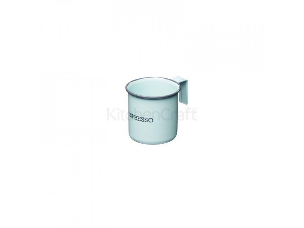 Plechový hrnek na espresso Kitchen Craft Living Nostalgia Vintage Blue 75 ml