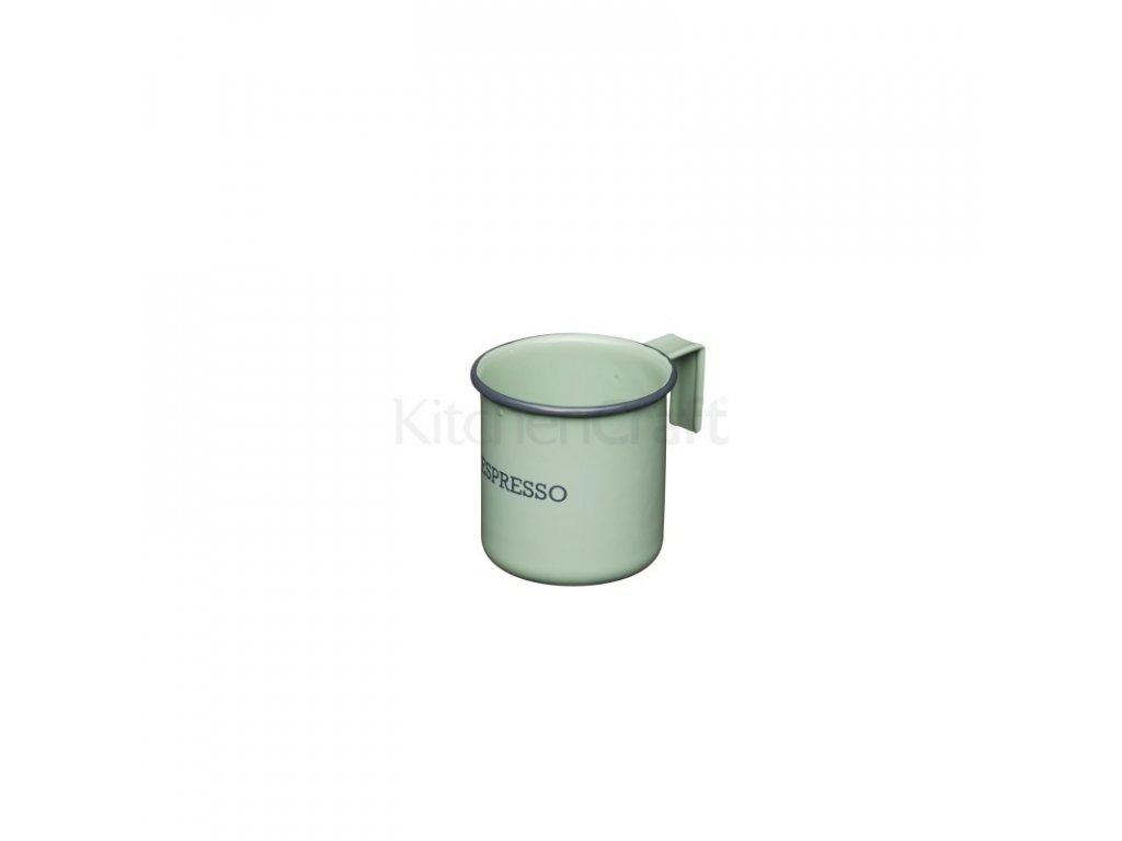Plechový hrnek na espresso Kitchen Craft Living Nostalgia English Sage Green 75 ml