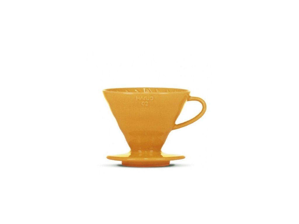 Hario keramický dripper V60-02 oranžový + 40 filtrů