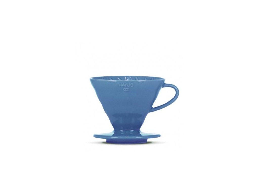 Hario keramický dripper V60-02 tyrkysově modrý + 40 filtrů