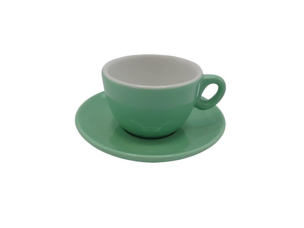 Inker šálek s podšálkem Cappuccino 170 ml zelený