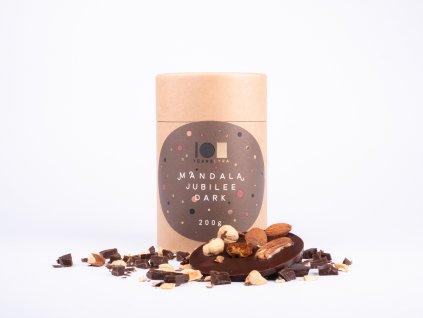 Lyra mandala jubilee hořká čokoláda s celými ořechy