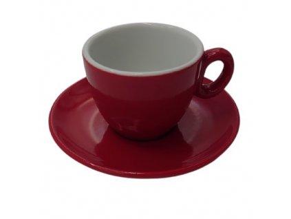 Inker šálek s podšálkem Espresso 70 ml červený