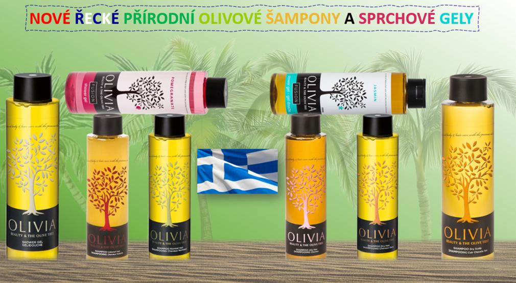 Nové řecké přírodní olivové šampony a sprchové gely